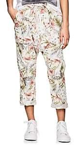 NSF Women's Jojo Floral Cotton Drop-Rise Pants - White