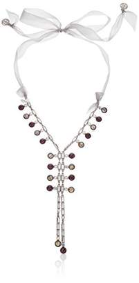 Swarovski Ben-Amun Jewelry Eclipse Solar Crystal Y-Shaped Ribbon Necklace