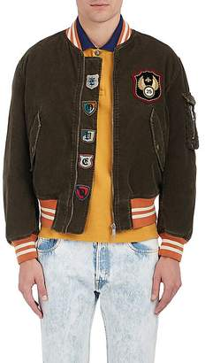 Gucci MEN'S COTTON-BLEND CORDUROY BOMBER JACKET