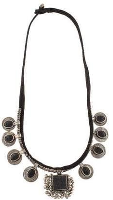 Saint Laurent Patti Lava Rock Necklace