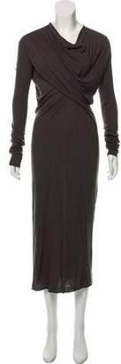 Rick Owens Long Sleeve Knit Dress