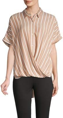 BCBGeneration Striped Dolman-Sleeve Shirt