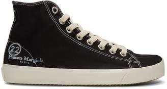 Maison Margiela Black Tabi High-Top Sneakers