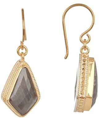 Anna Beck 18K Gold Plated Grey Sapphire Kite Drop Earrings