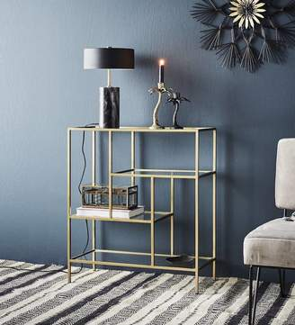 Co The Forest & Antique Brass Four Tier Iron Storage Unit