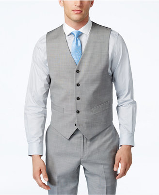 Tommy Hilfiger Grey Sharkskin Classic-Fit Vest $100 thestylecure.com