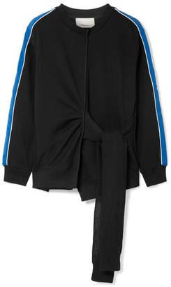 3.1 Phillip Lim Striped French Cotton-terry Sweatshirt - Black