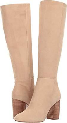 Kenneth Cole New York Women's Clarissa Knee High Tall Stacked Heel Engineer Boot
