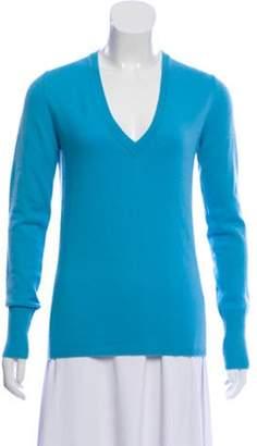 Malo Cashmere V-Neck Sweater blue Cashmere V-Neck Sweater