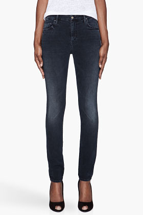 Mother Dark navy The high-waisted Looker jeans