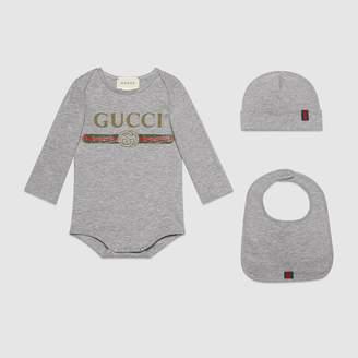 Gucci Baby logo cotton gift set