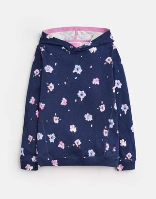 Joules Navy Petal Floral Marlston Hooded Sweatshirt 3-12Yr Size 4Yr