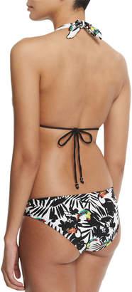 Shoshanna Tropical-Print Hipster Swim Bikini Bottom