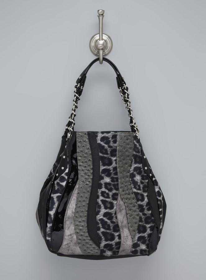 Carlos Santana Melodia Faux Leather Printed Shopper Bag
