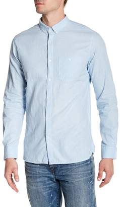Knowledge Cotton Apparel Long Sleeve Linen Woven Shirt