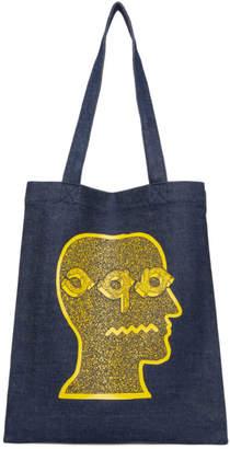 A.P.C. Blue Brain Dead Edition Shopping Tote