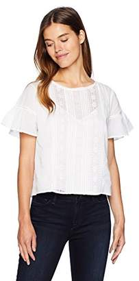 Velvet by Graham & Spencer Women's Sheri Cotton lace Shirt