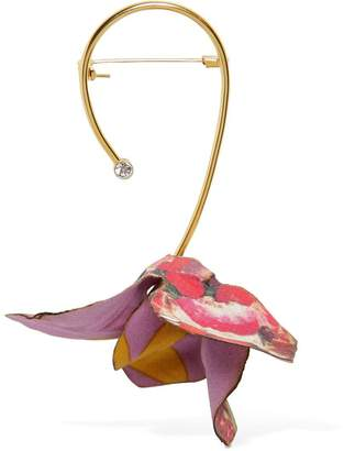Marni Flower Pin With Crystal