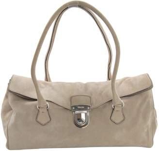 Prada Beige Suede Handbag