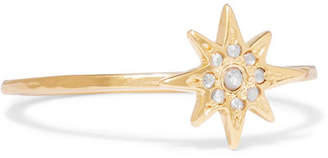 Chan Luu 钻石镀金戒指