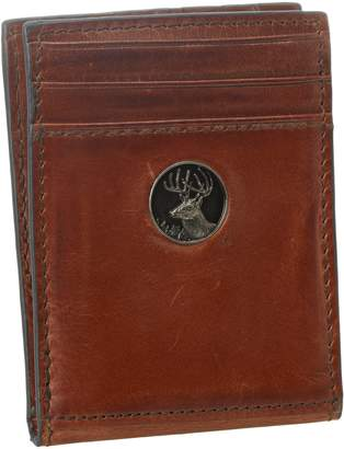 Weber's Leathers Men's Front Pocket Wallet with Buck Concho