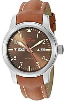 Fortis B-42 Aeromaster 655.10.18 L.08 Stainless Steel Brown Dial Automatic 42mm Mens Watch
