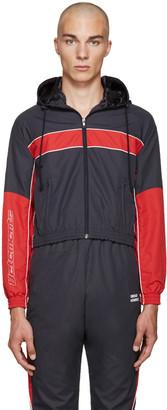 Vetements Navy Logo Track Jacket $1,375 thestylecure.com