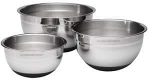 Lagostina Ambiente Set of 3 Mixing Bowls