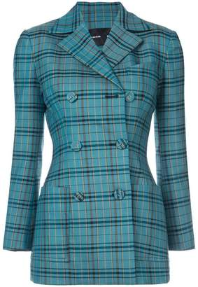 Proenza Schouler Plaid Double Breasted Blazer
