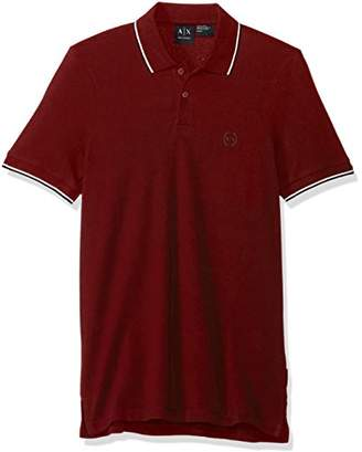 Armani Exchange A|X Men's Short Sleeve Jersey Knit Polo