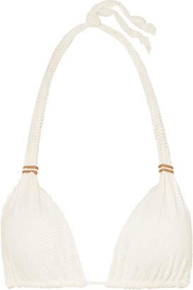 Vix Scales Bia Tube Laser-cut Triangle Bikini Top - Off-white