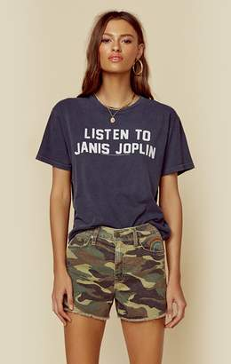 Original Retro Brand The LISTEN TO J JOPLIN CROP TEE
