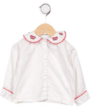 Rachel Riley Girls' Button- Up Top