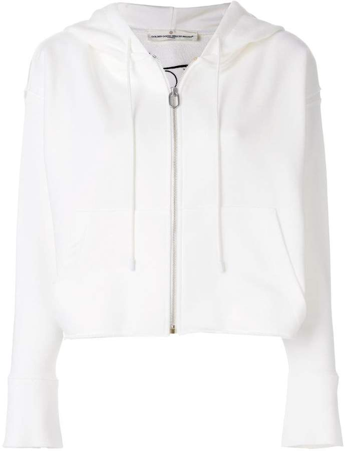 embroidered hooded jacket