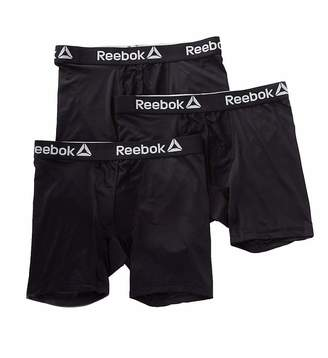 Reebok 3 Pack Performance Boxer Brief Men - Black/Black/Black