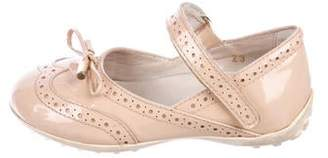 Tod's Girls' Patent Leather Ballet Flats