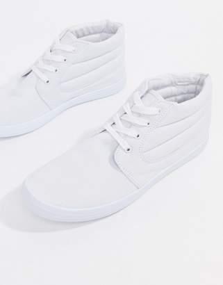 Asos Design DESIGN chukka boots in white canvas