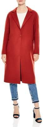 Sandro Monoï Single-Button Coat