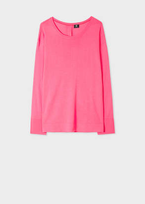 Paul Smith Women's Pink Merino Button-Back Sweater