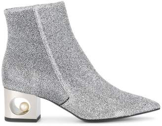 Coliac metallic ankle boots
