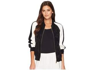 Lauren Ralph Lauren Two-Tone Bomber Jacket