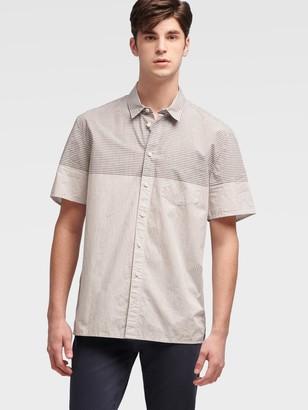 DKNY Blocked Gingham Shirt