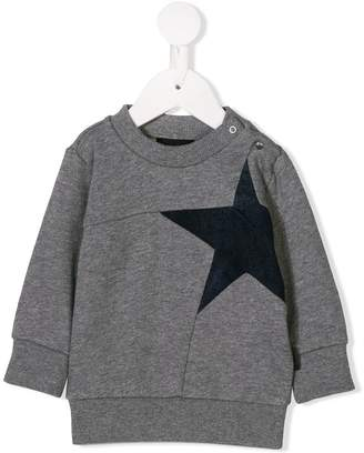 Diesel star panelled sweatshirt