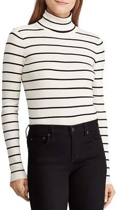 Ralph Lauren Ribbed Stripe Turtleneck Sweater