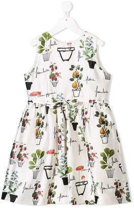 Oscar de la Renta Kids flower pots mikado dress