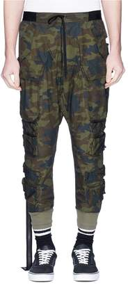 Taverniti So Ben Unravel Project Elastic strap camouflage print cargo pants