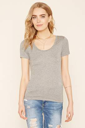 Forever 21 Contemporary Scoop-Neck Tee