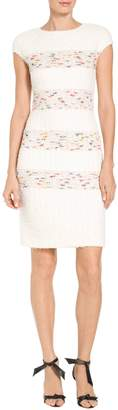 St. John Flagged Stripe Knit Dress