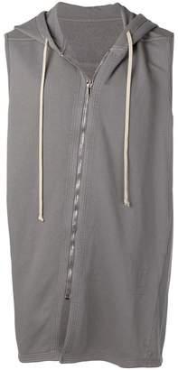 Rick Owens sleeveless zipped hoodie