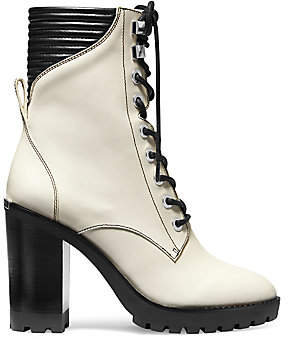 MICHAEL Michael Kors Women's Bastian Leather Combat Boots